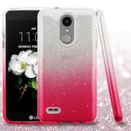Full Glitter Hybrid Protective Case for LG Aristo 3 / Aristo 2 Plus / Fortune 2 / Tribute Empire - Hot Pink