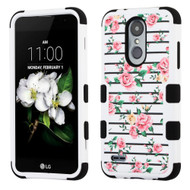 Military Grade TUFF Hybrid Case for LG Aristo 2 / Fortune 2 / K8 (2018) / Tribute Dynasty / Zone 4 - Pink Roses