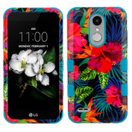 Military Grade TUFF Case for LG Aristo 3 / Aristo 2 Plus / Fortune 2 / Tribute Empire - Electric Hibiscus