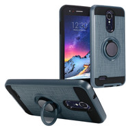 *Sale* Sports Hybrid Armor Case with Ring Holder for LG Aristo 3 / Aristo 2 Plus / Fortune 2 / Tribute Empire - Blue