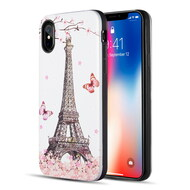 Art Pop Series 3D Embossed Printing Hybrid Case for iPhone XS / X - Eiffel Tower