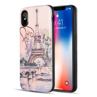 Art Pop Series 3D Embossed Printing Hybrid Case for iPhone XS / X - Paris