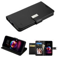 *SALE* Essential Leather Wallet Stand Case for LG K30 / Harmony 2 / Phoenix Plus / Premier Pro - Black