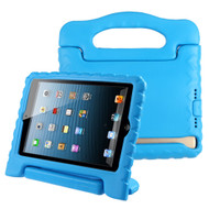 Kids Friendly Light Weight Shock Proof Standing Case with Handle for iPad Mini - Blue