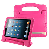 Kids Friendly Light Weight Shock Proof Standing Case with Handle for iPad Mini - Hot Pink