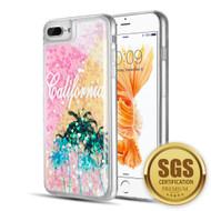 Quicksand Glitter Transparent Case for iPhone 8 Plus / 7 Plus / 6S Plus / 6 Plus - California