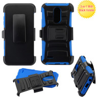 *SALE* Advanced Armor Hybrid Stand Case + Holster for LG Aristo 3 / Aristo 2 Plus / Fortune 2 / Tribute Empire - Blue