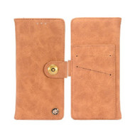 *Sale* Faux Suede Leather Wallet with Magnetic Case for LG Aristo 3 / Aristo 2 Plus / Fortune 2 / Tribute Empire - Brown
