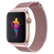 Magnetic Stainless Steel Mesh Strap Watch Band for Apple Watch 44mm / 42mm - Rose Gold