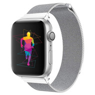 Magnetic Stainless Steel Mesh Strap Watch Band for Apple Watch 44mm / 42mm - Silver