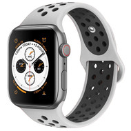 Performance Sports Silicone Watch Band for Apple Watch 40mm / 38mm - Grey Black