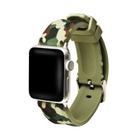 Camouflage Sport Band Silicone Watch Strap for Apple Watch 44mm / 42mm - Green