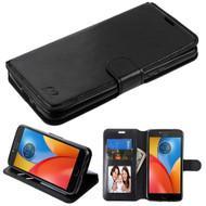 *Sale* Book-Style Leather Folio Case for Motorola Moto E4 Plus - Black