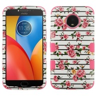 *Sale* Military Grade Certified TUFF Image Hybrid Armor Case for Motorola Moto E4 Plus - Pink Fresh Roses
