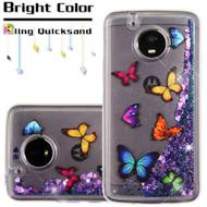 Quicksand Glitter Transparent Case for Motorola Moto E4 Plus - Butterfly Dancing