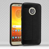 Leather Texture Anti-Shock Hybrid Protection Case for Motorola Moto E5 Play / E5 Cruise - Black