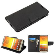 *SALE* Diary Leather Wallet Case for Motorola Moto E5 Play / E5 Cruise - Black