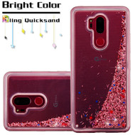Quicksand Glitter Transparent Case for LG G7 ThinQ - Rose Gold