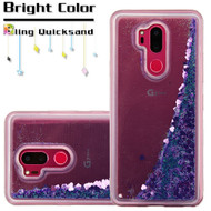 Quicksand Glitter Transparent Case for LG G7 ThinQ - Purple
