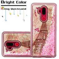 Quicksand Glitter Transparent Case for LG G7 ThinQ - Eiffel Tower