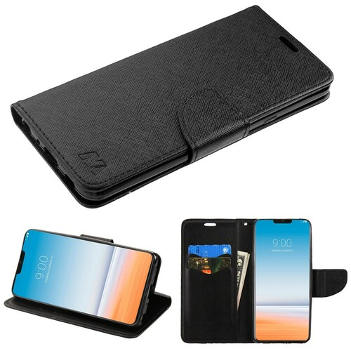 huge discount 183ce 340ed Diary Leather Wallet Case for LG G7 ThinQ - Black - HD Accessory