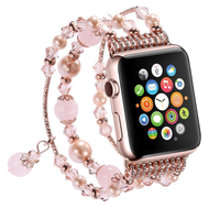Faux Pearl Natural Agate Stone Watch Band for Apple Watch 44mm / 42mm