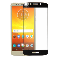 Premium Full Coverage Tempered Glass Screen Protector for Motorola Moto E5 Play / E5 Cruise - Black