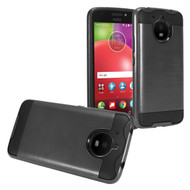 *Sale* Brushed Coated Hybrid Armor Case for Motorola Moto E4 Plus - Black