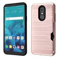 ID Card Slot Hybrid Case for LG Stylo 4 / Stylo 4 Plus - Rose Gold