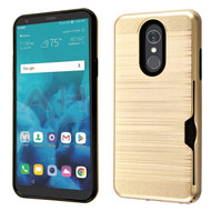 ID Card Slot Hybrid Case for LG Stylo 4 / Stylo 4 Plus - Gold