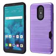 ID Card Slot Hybrid Case for LG Stylo 4 / Stylo 4 Plus - Purple