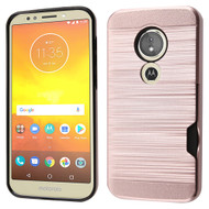 ID Card Slot Hybrid Case for Motorola Moto E5 Play / E5 Cruise - Rose Gold