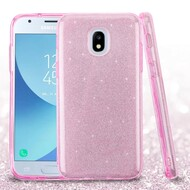 *Sale* Full Glitter Hybrid Protective Case for Samsung Galaxy J3 (2018) / J3 Achieve / J3 Star - Pink
