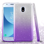 *Sale* Full Glitter Hybrid Protective Case for Samsung Galaxy J3 (2018) / J3 Achieve / J3 Star - Gradient Purple