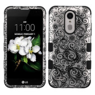 Military Grade TUFF Hybrid Case for LG Aristo 3 / Aristo 2 Plus / Fortune 2 / Tribute Empire - Leaf Clover Black