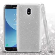 *SALE* Full Glitter Hybrid Protective Case for Samsung Galaxy J7 (2018) / J7 Refine / J7 Star - Silver