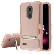 Military Grade Certified TUFF Hybrid Armor Case with Stand for LG K30 / Harmony 2 / Premier Pro - Rose Gold 404