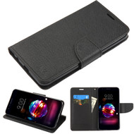 Diary Leather Wallet Case for LG K30 / Harmony 2 / Phoenix Plus / Premier Pro - Black