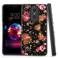 Tough Anti-Shock Hybrid Case for LG K30 / Harmony 2 / Phoenix Plus / Premier Pro - Romantic Love Flowers