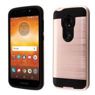 Brushed Hybrid Armor Case for Motorola Moto E5 Play / E5 Cruise - Rose Gold