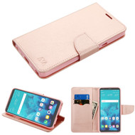 *SALE* Diary Leather Wallet Case for LG Stylo 4 / Stylo 4 Plus - Rose Gold