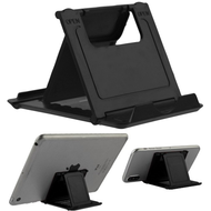 Adjustable Desktop Folding Stand for Tablet and Smartphone - Black
