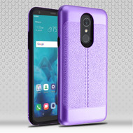 Leather Texture Anti-Shock Hybrid Protection Case for LG Stylo 4 / Stylo 4 Plus - Purple