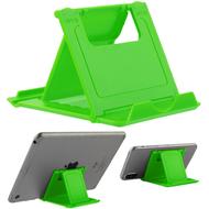 Adjustable Desktop Folding Stand for Tablet and Smartphone - Green
