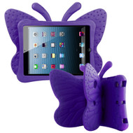 Kids Friendly Butterfly Shock Proof Case with Adjustable Wings for iPad Mini - Purple