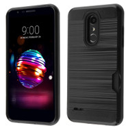 ID Card Slot Hybrid Case for LG K30 / Harmony 2 / Phoenix Plus / Premier Pro - Black