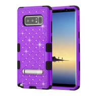 Military Grade Certified TUFF Diamond Hybrid Armor Case with Stand for Samsung Galaxy Note 8 - Purple