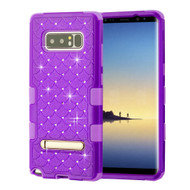 Military Grade Certified TUFF Diamond Hybrid Armor Case with Stand for Samsung Galaxy Note 8 - Purple 262