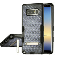 Military Grade Certified TUFF Image Hybrid Armor Case with Stand for Samsung Galaxy Note 8 - Diamond Plate