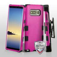 Military Grade Certified TUFF Hybrid Armor Case with Holster for Samsung Galaxy Note 8 - Hot Pink